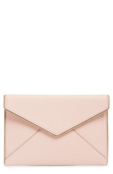 Free shipping and returns on Rebecca Minkoff 'Leo' Envelope Clutch at Nordstrom.com. Open zip teeth trace the edges of a slim envelope-flap clutch crafted from scratch-resistant Saffiano leather.
