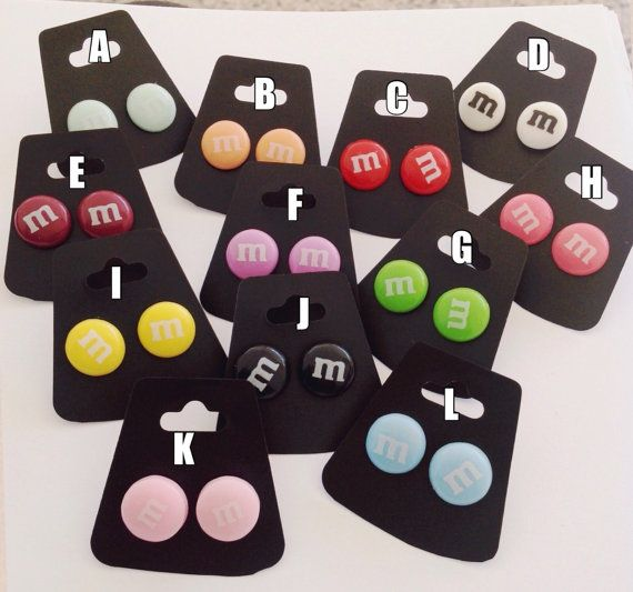 Kawaii Sweet Pastel Earring Studs by MintyMilkTea on Etsy #kawaii #pastelgoth #pastel #harajuku