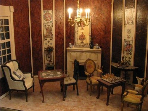 89 best Dollhouse Interiors images on Pinterest Miniature rooms