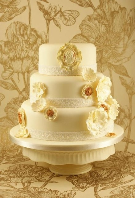 Wedding Cakes With Lace Pinterest