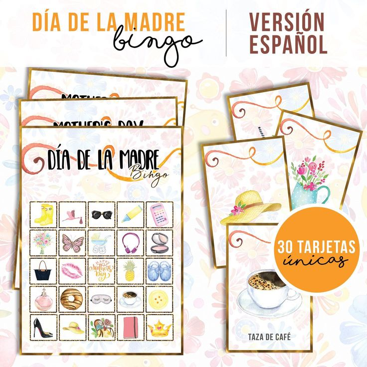 Lotería Mother's Day, Bingo in spanish Classroom games