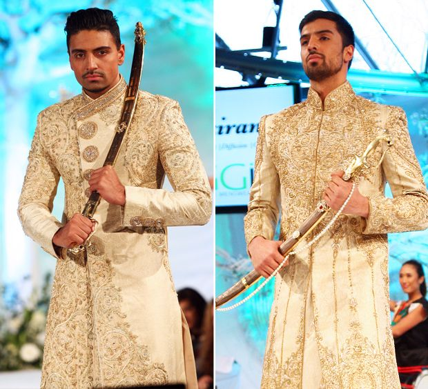 ziggi-studio-menswear 2013  gold sherwani for groom