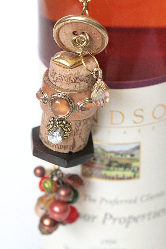 Cork Bella Vintage  Golden Sunset by MMVintageSweets on Etsy, $26.00