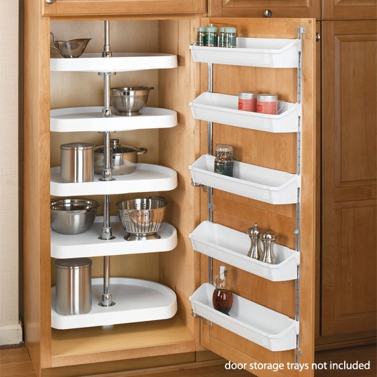 Rev A Shelf D Shaped 5 Shelf Pantry Lazy Susan   The Rev A Shelf D Shaped 5 Shelf  Pantry Lazy Susan Is Ideal For Fully Organizing A Pantry Or A Large ...