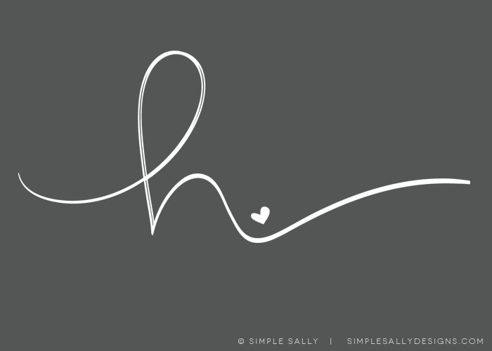 single initial | HANNA LANE | simple sally designs for photographers