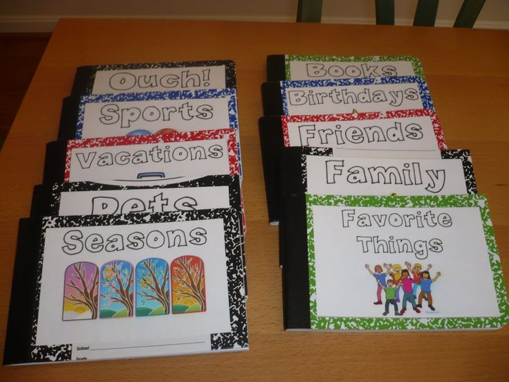 Class books for work on writing time during Daily 5. Cute!