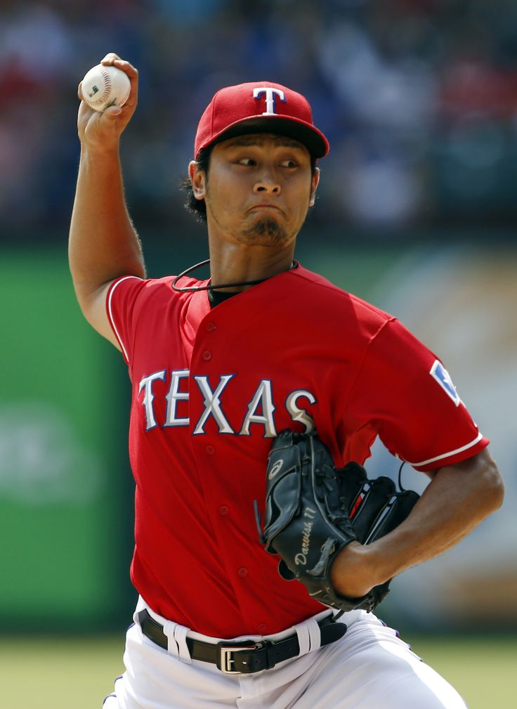 CrowdCam Hot Shot: Texas Rangers starting pitcher Yu Darvish delivers a pitch to the Oakland Athletics during the second inning of a baseball game at Rangers Ballpark in Arlington. Photo by Jim Cowsert