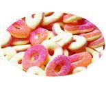 A bulk bag of Trolli Peach Rings.