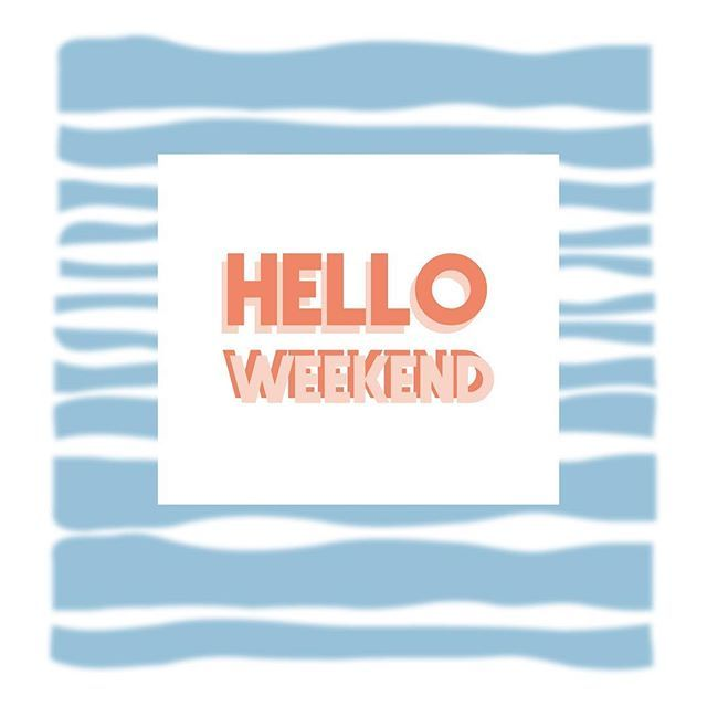 Hello Weekend! Have a good one and may all your weekend goals be reached!! My goals for this weekend are all about:🧘🏼‍♀️🍷💃💋🥐🌊☀️😴. What are yours about?  #weekend #weekendvibes #zinin #graphicdesign #waves #surfing #summervibes #spring #almostthere #graphicdesign #typography #surf #positivevibes #happythoughts #typography #inspire #stayfocused #inthenow #nowisthetime #blurred #blurredlines