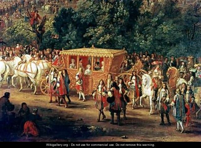 The Entry of Louis XIV 1638-1715 and Maria Theresa 1638-83 into Arras 30th July 1667