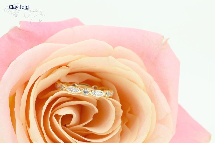 Stunning eternity band, we love this design so much.  #clayfieldjewellery #eternityband #weddingband #diamonds #diamondring