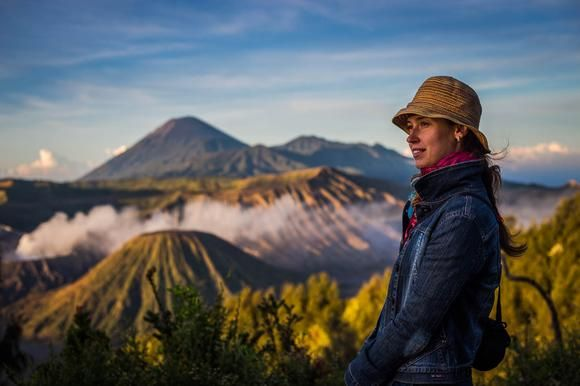 enjoy the beauty in the mountain bromo