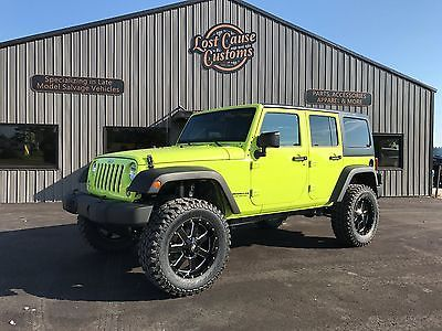 eBay: 2016 Jeep Wrangler SPORT 2016 JEEP WRANGLER UNLIMITED REBUILT PRIOR SALVAGE HYPER GREEN SAHARA RUBICON #jeep #jeeplife