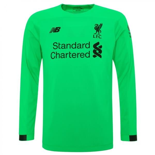 Liverpool 19 20 Green Goalkeeper Long Sleeve Men Soccer Jersey Personalized Name And Number Long Sleeve Tshirt Men Soccer Jersey Liverpool