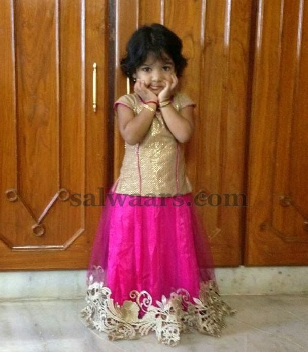 Baby in Pink lace Skirt - Indian Dresses
