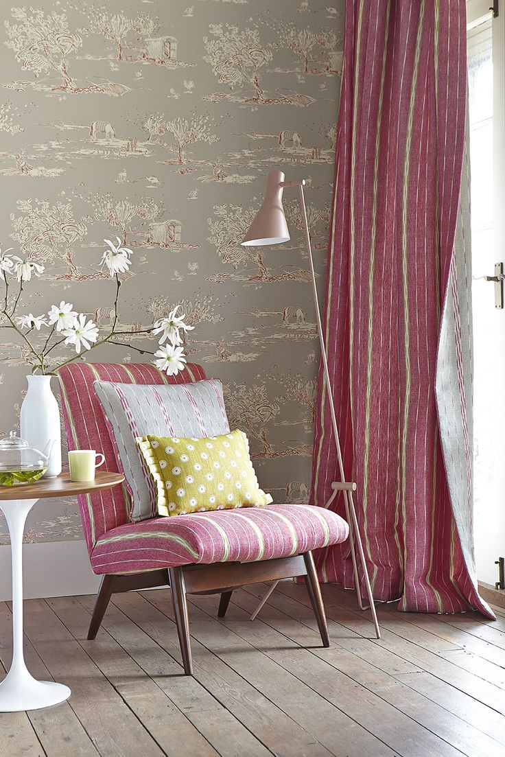 For the Love of Rose - Wallpaper - Clay & Damson