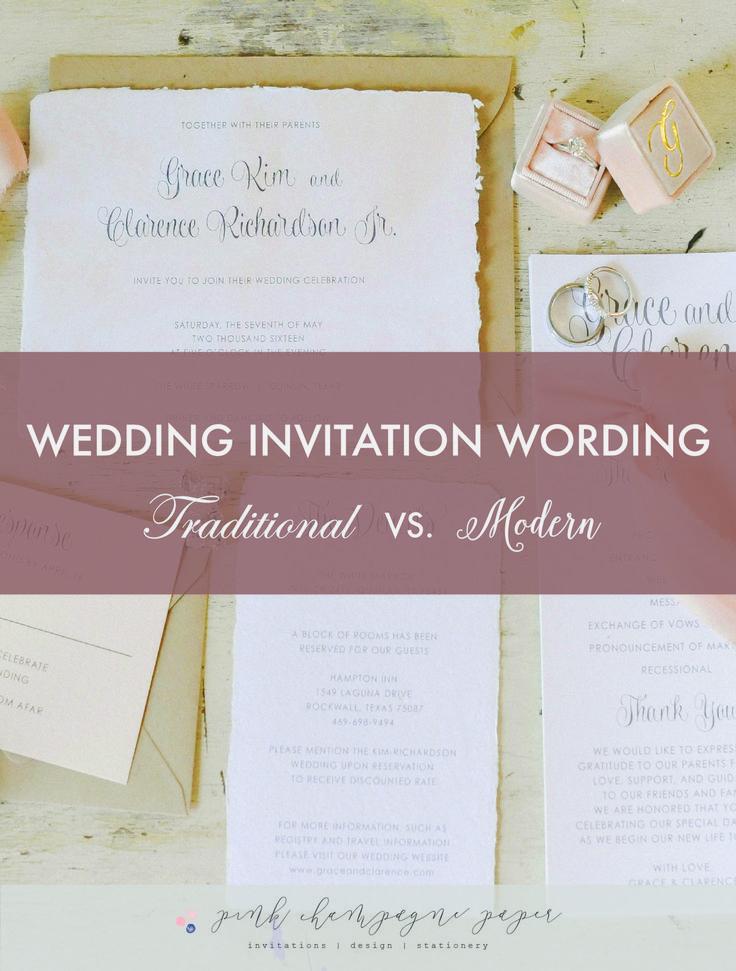 1000+ Ideas About Modern Wedding Invitation Wording On