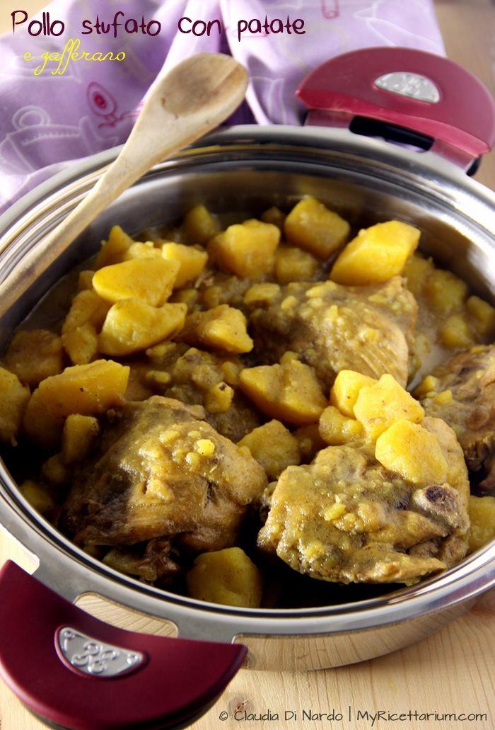 My Ricettarium: Pollo stufato con patate e zafferano