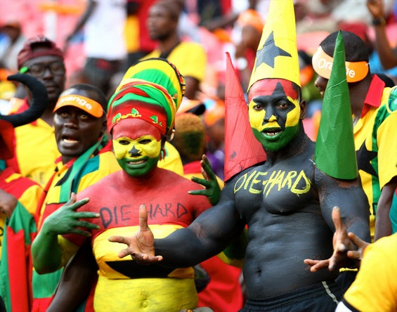 Ghana fans during their group match against Niger. (Getty) Add World Football INSIDER on www.Twitter.com/WorldFBInsider & www.Facebook.com/WorldFootballInsider for the latest info on the world of #Football / #Soccer.