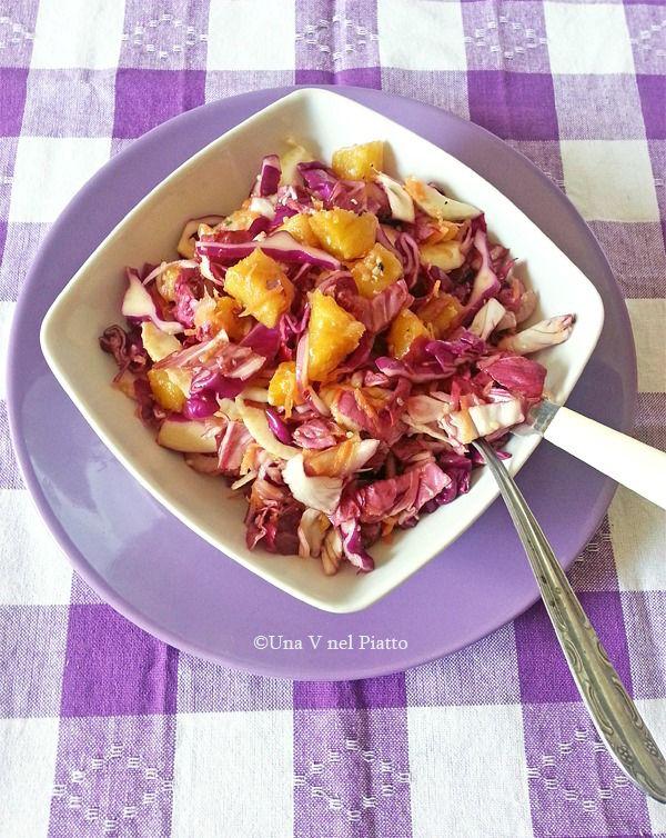 Insalata di radicchio, cavolo viola e ananas on http://www.unavnelpiatto.it