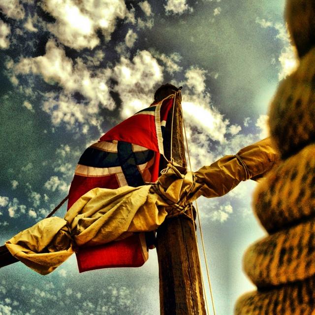 Vakkert flagg i rette omgivelser