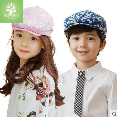 Free shipping spring summer baby beret hat girl boy fashion cotton outdoor hats design