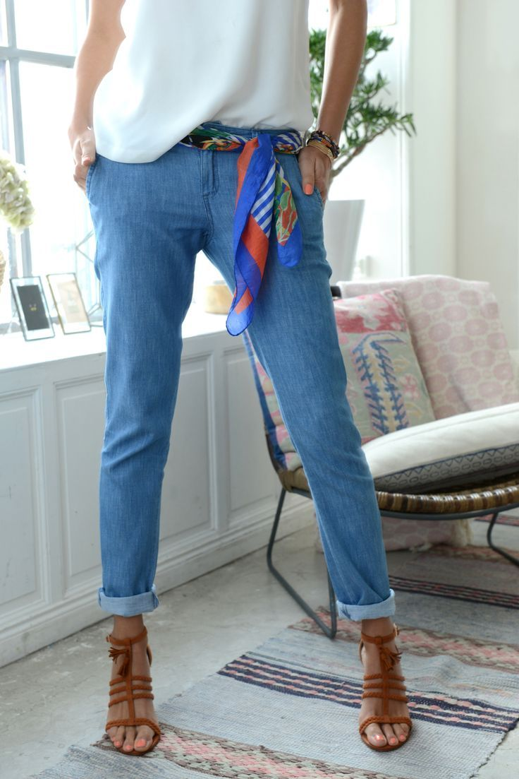Tendance Chaussures   J'adore le jean et les chaussures. Parfait pour un look estival #lescarnetsd