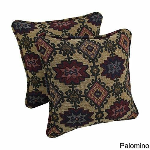 18x18 Green Red Southwestern Throw Pillows Geometric Tribal Pattern Southwest Rustic Country Themed Pillow Square Chevron Medallion Headrest Cushion
