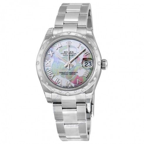 Rolex Oyster Perpetual Datejust 31 Goldust Dream Mother of Pearl Dial Stainless Steel Bracelet Automatic Ladies Watch 178344GDDMRO