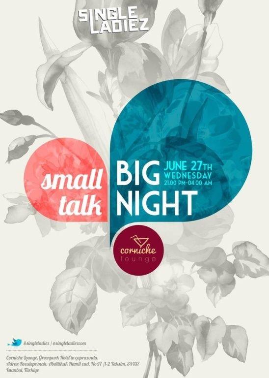 Small Talk, Big Night poster.