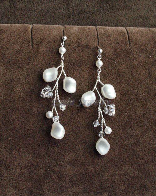 Bridal Jewelry Sets Ivory Pearls Wedding jewelry от adriajewelry