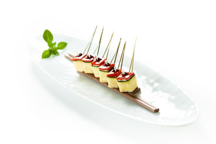 Cannelloni de féta à la courgette. © Thierry Caron