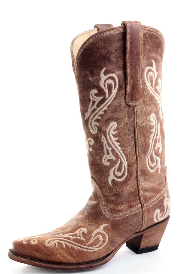 corral distressed brown cowgirl boots