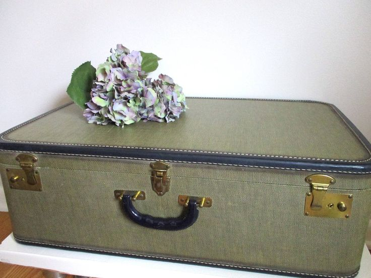 Large Suitcase 1940s NAVY Luggage 1930's Deep Royal BLUE Handle Interior, Gold Clasps Excellent Condition, Show Piece Decor Displayas-is by chloeswirl on Etsy