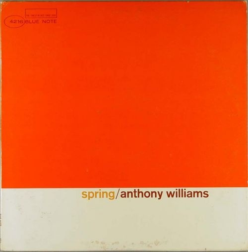 Damn.... echoes of artist Piet Mondrian in this Anthony Williams album, and the simple use of, I believe, Helvetica for title/artist. Wow.