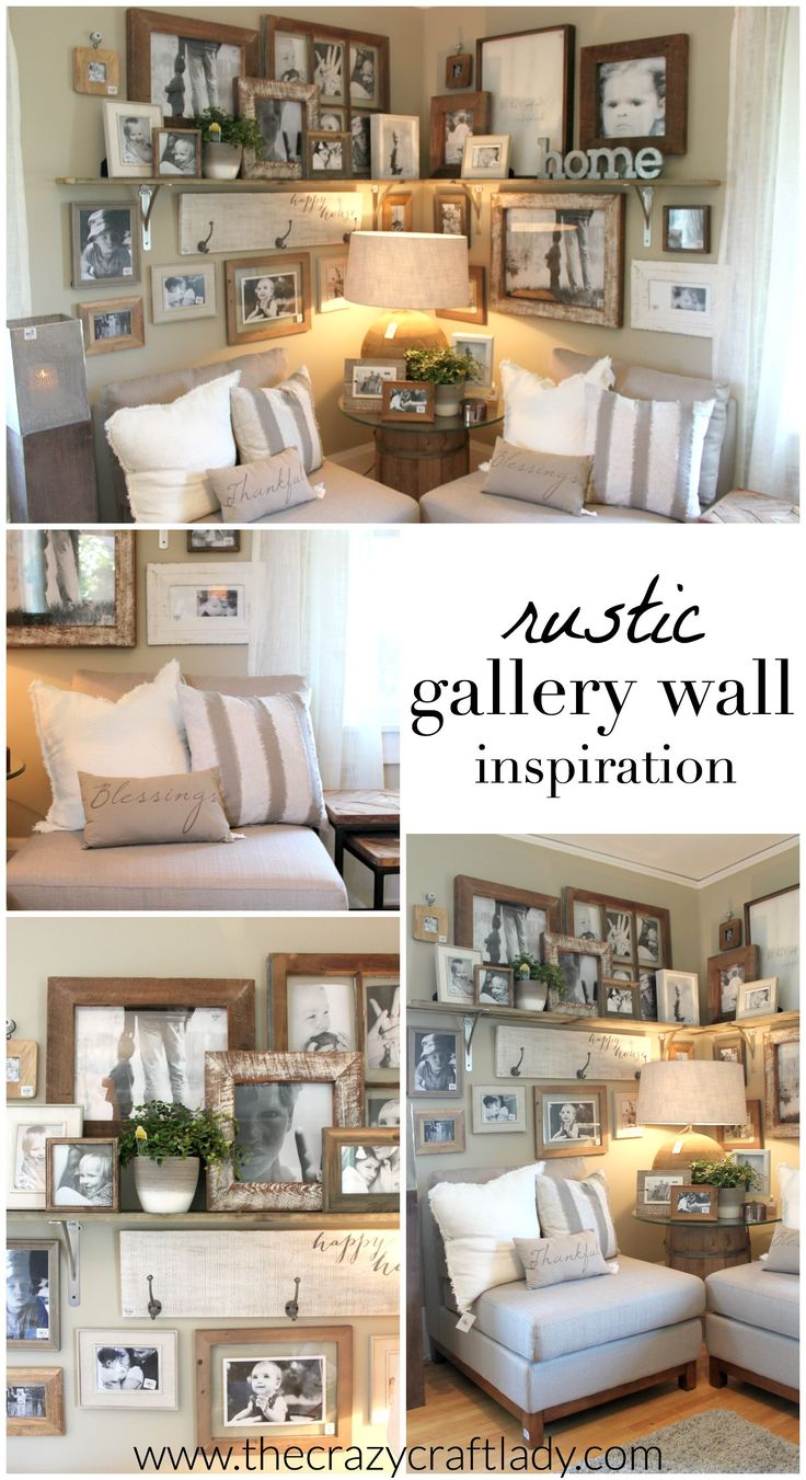 Rustic living room wall decor - Fall 2015 Ideas House Rustic Gallery Wallentryway