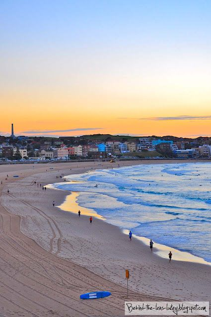 Morning Pastels - Bondi Beach  I want to go here. Imagine walking the beach in the morning, then heading to the local coffee shop?? Sounds like heaven.