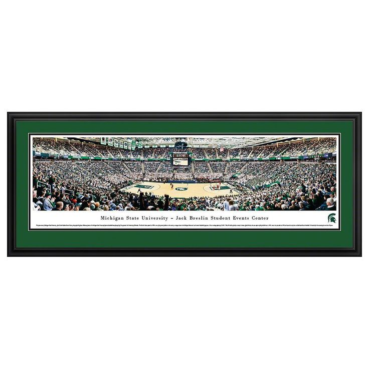 Michigan State Spartans Basketball Arena Framed Wall Art, Multicolor