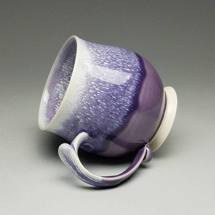Pansy purple with Chun glaze underneath