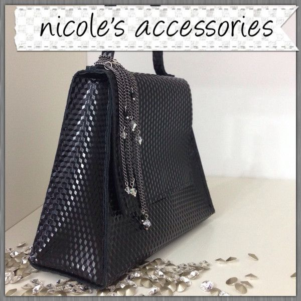 Black Leather Clutch from Nicole's Accessories by DaWanda.com