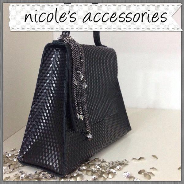 Black Leather Clutch from Nicole's Accessories by DaWanda.com