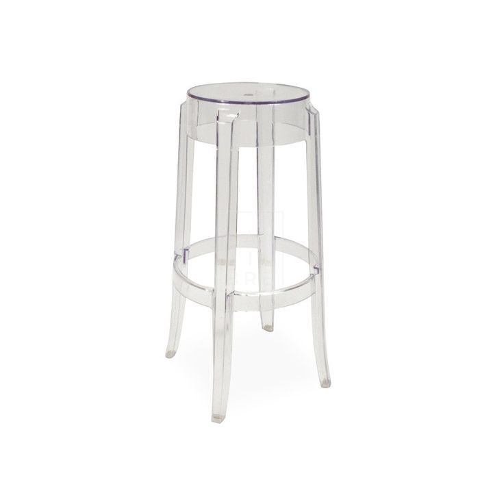 Calibre - Charles Ghost Stool - Philippe Starck Replica - 65cm - Clear