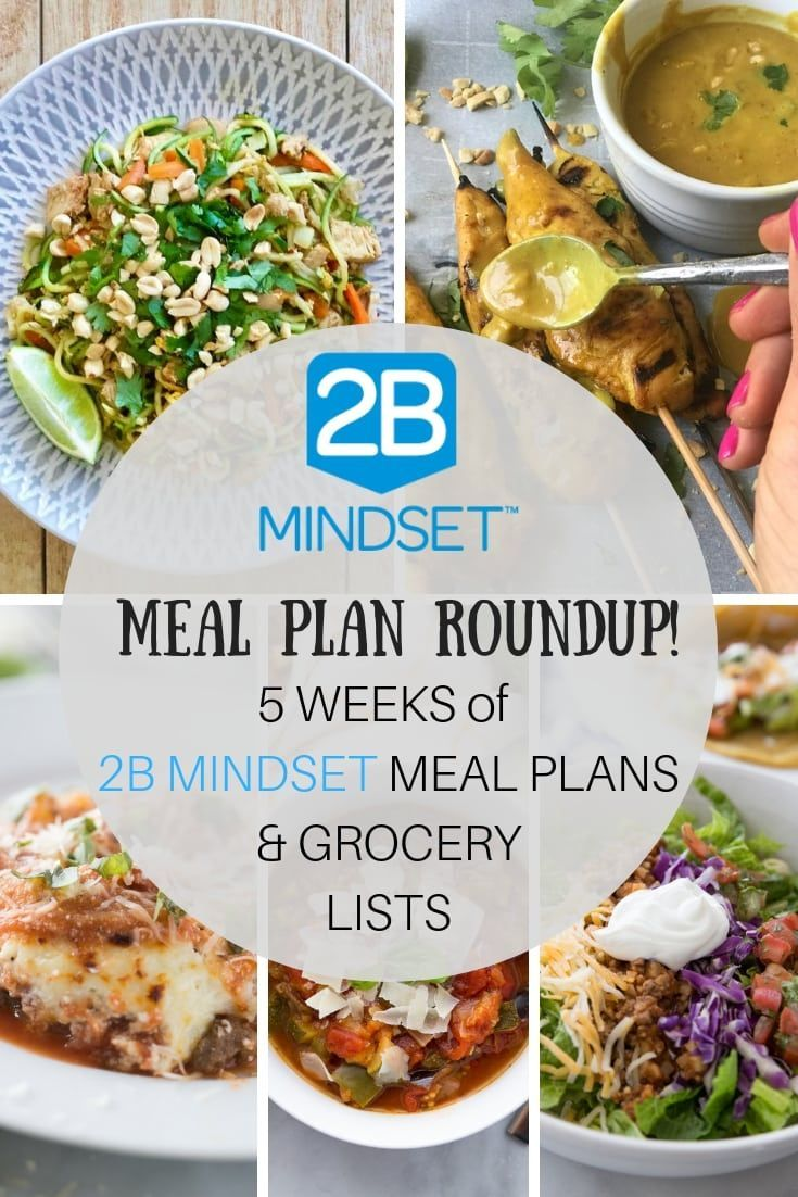 2b Mindset Meal Plans Grocery List Roundup Health Fitness