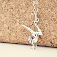 Gimnasta collar collar de gimnasia plata esterlina por BijouBright