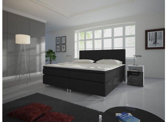 25+ beste idee u00ebn over Zwarte bedden op Pinterest   Zwarte slaapkamers, Zwarte slaapkamer decor