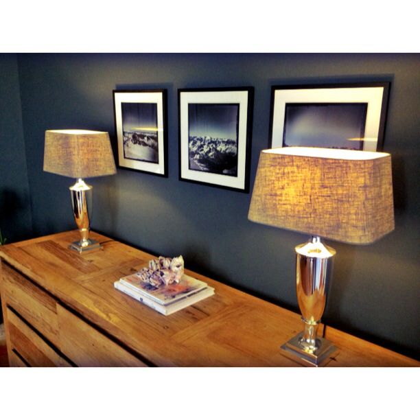 New lamps and Fotos in Sideboard