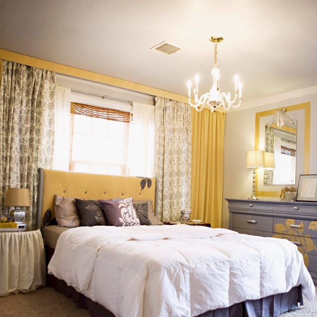 Window Behind Bed Curtains Take Up Entire Wall Too Traditional But The Curtain Idea Is Interesting Bennaville House Home Bedroom Decor