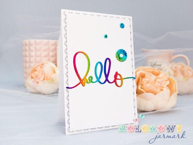 #cardmaking #hello #kesi'art #clean&simple #scrapbooking #decofoil #fioling