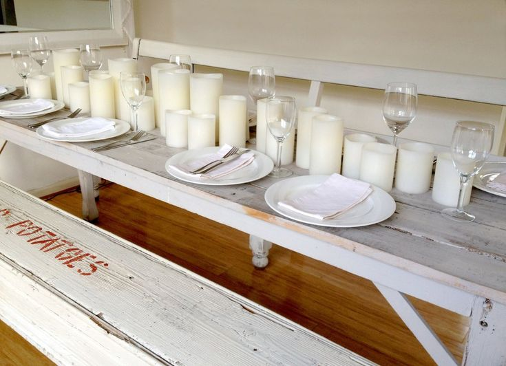 Flameless Wax Candles - Great alternative to real pillar candles.