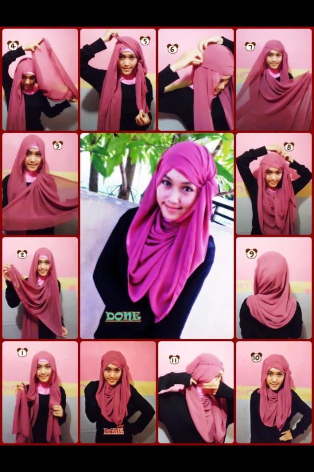 Cute hijab style long
